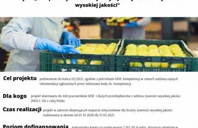 """Projekt """"Kompetencje dla Branży Turystycznej i sektora żywności wysokiej jakości"""""""