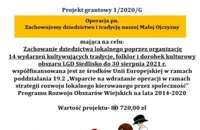 Projekt grantowy - zachowanie dziedzictwa lokalnego